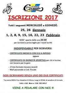 ISCRIZIONI 2017